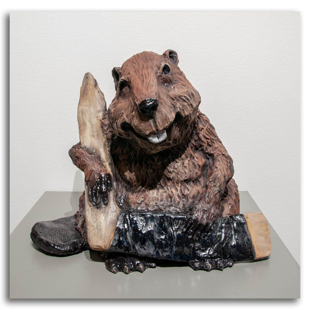 He Lived, Breathed and Ate Hockey Ceramic by Elaine Brewer-White