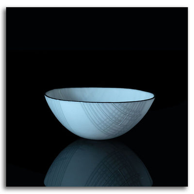 Innocent Bowl Kilnformed Glass by Bob Leatherbarrow