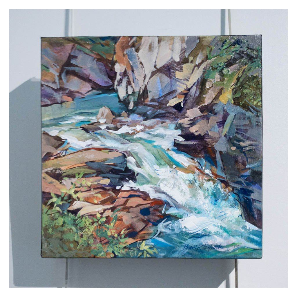 Johnston Cascade Acrylic on Canvas by Brent Laycock RCA