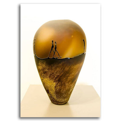 Journey Vessel I Blown Glass by Catherine Hibbits