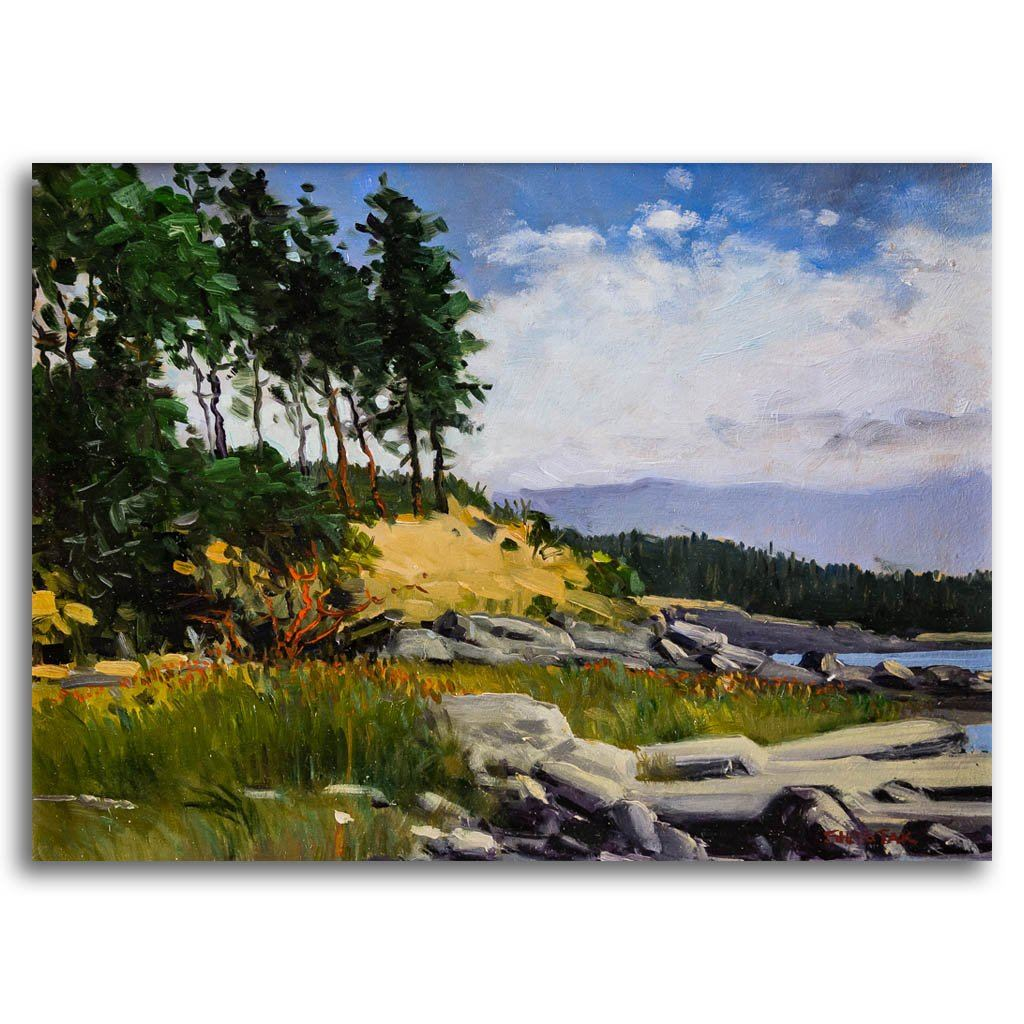June day on Hornby Oil on Board Peter Shostak