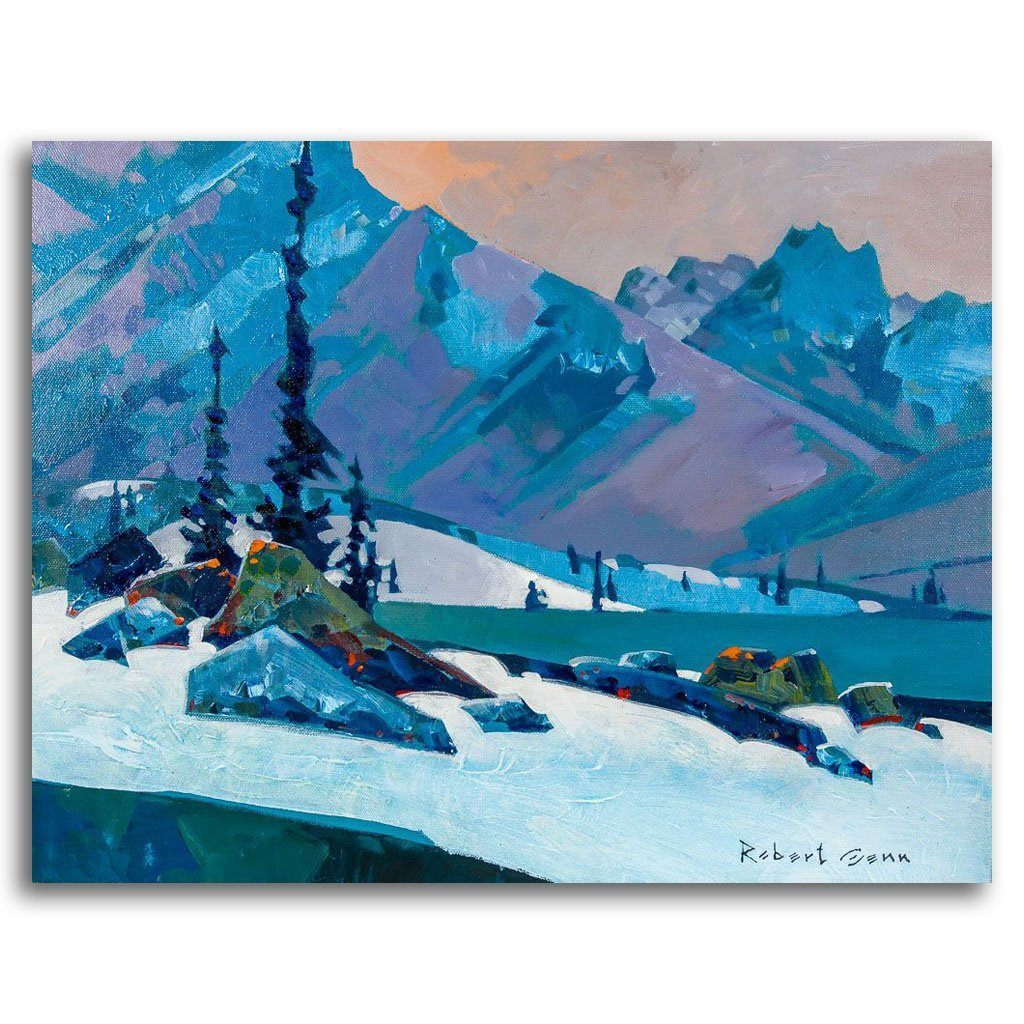 Last Light, Yoho (2013) Acrylic on Canvas by Robert Genn