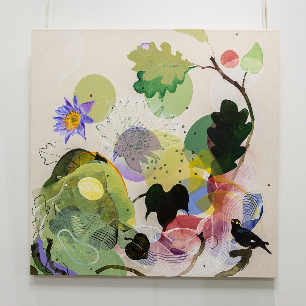 Late Bloom Mixed Media on canvas Sophie Carrier