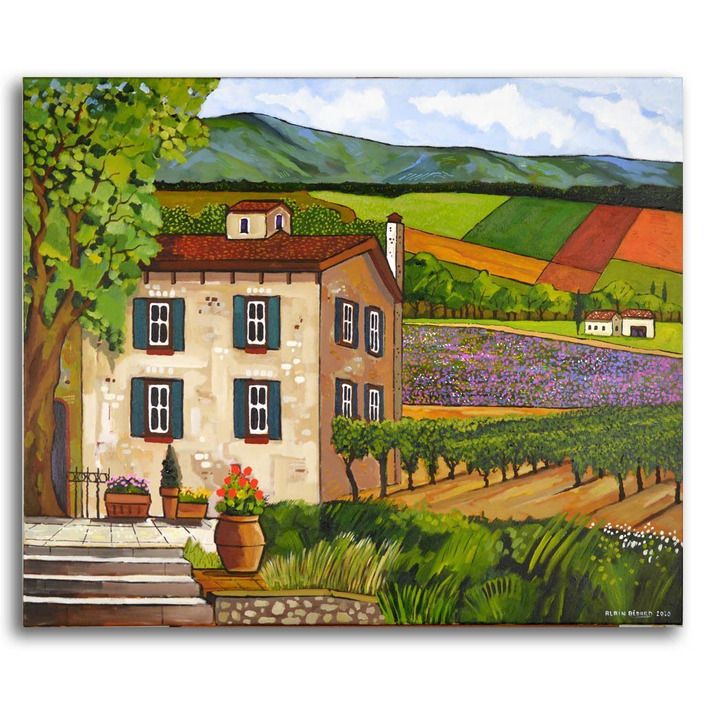 Le Vignoble de Paula Acrylic on Canvas by Alain Bédard