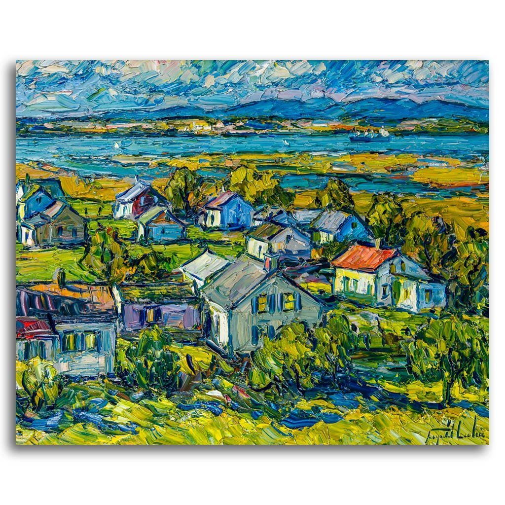 Leclercville Lotbinière Oil on Canvas by Raynald Leclerc