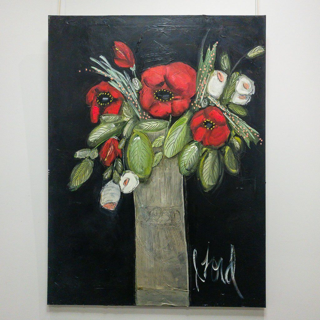 Les coquelicots Acrylic on Canvas Josée Lord