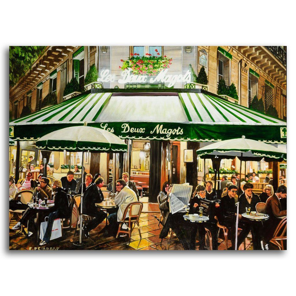 Les Deux Magots, Paris Acrylic on Canvas by Fraser Brinsmead