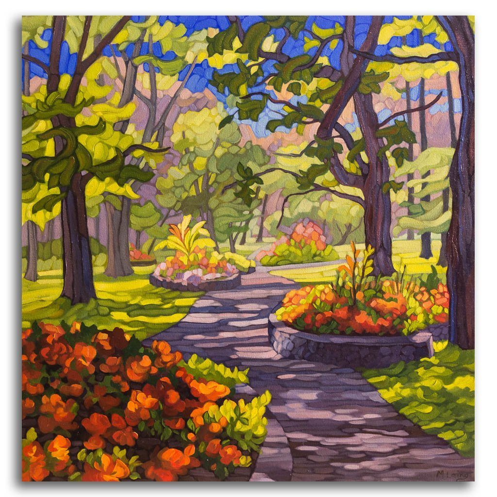 Like a Walk in the Park Oil on Canvas by Mary Ann Laing