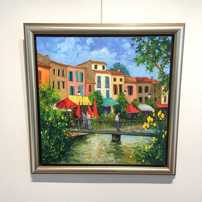 L'Isle-sur-la-Sorgue Oil on Canvas by Robert Savignac