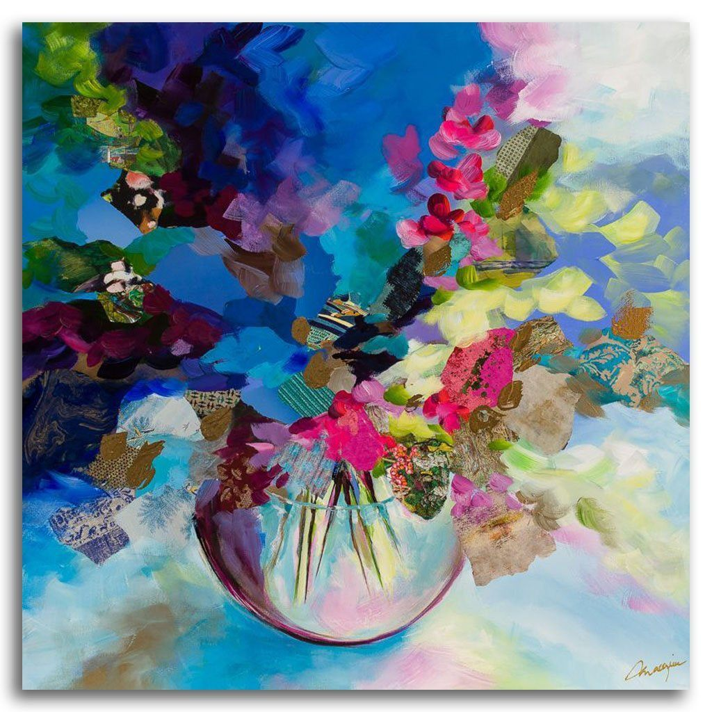 Little Bloom Mixed Media on canvas by Annabelle Marquis