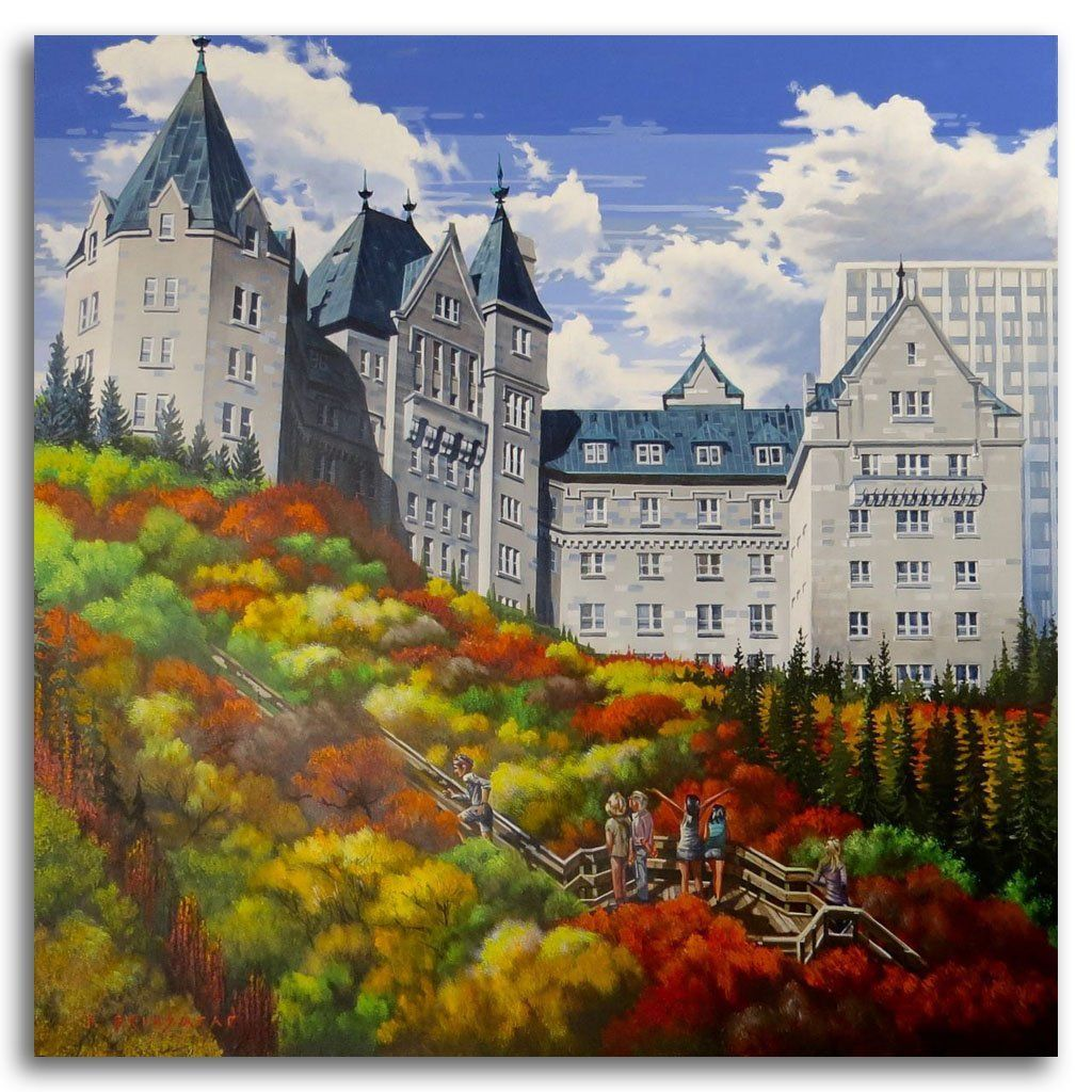 Macdonald Hotel Acrylic on Canvas by Fraser Brinsmead