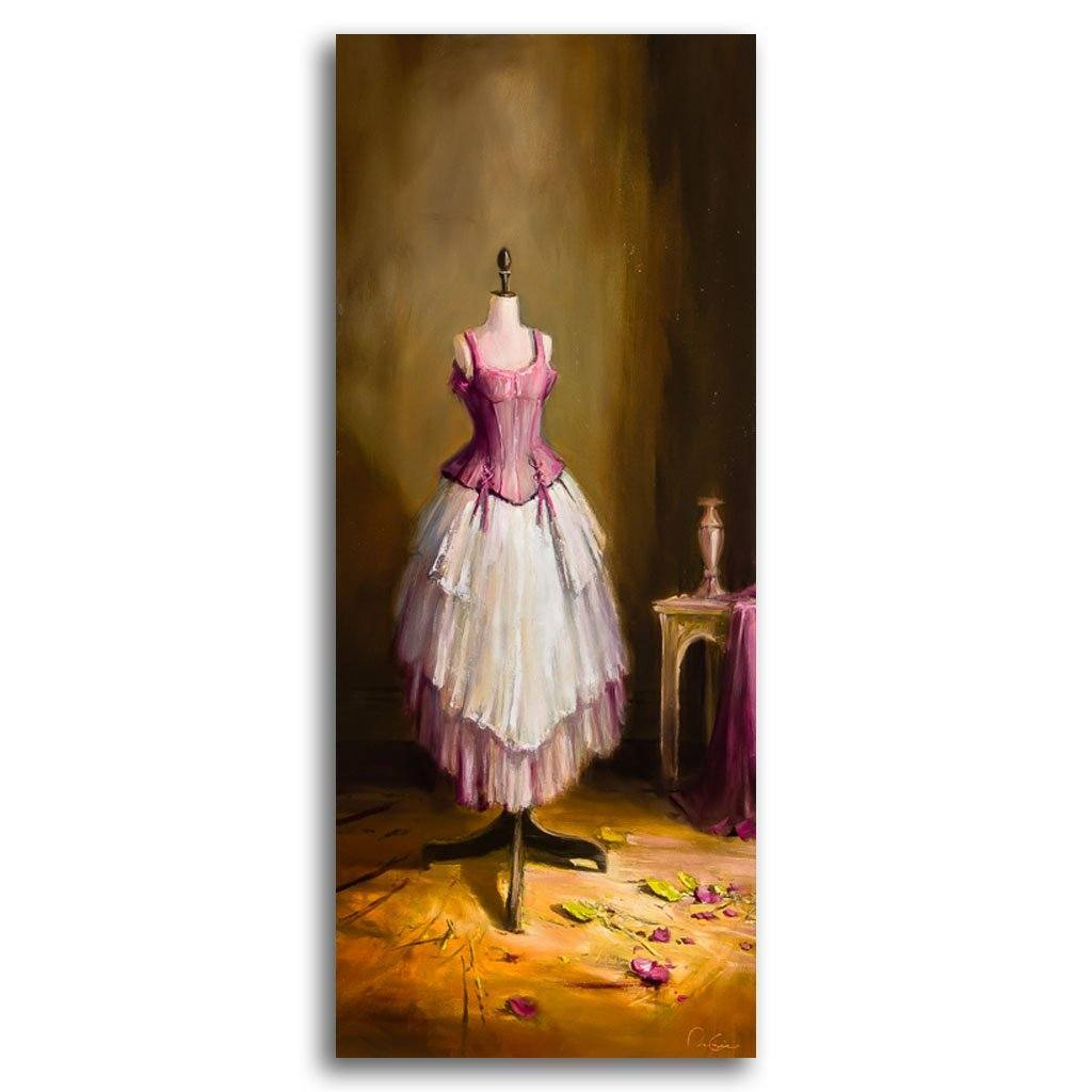mannequin en rose Oil on Canvas by Pierre Giroux