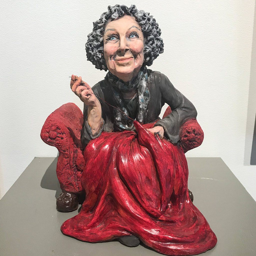 Margaret stitch her stories... Ceramic Elaine Brewer-White