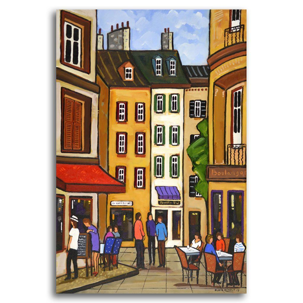 Menu of the Day Acrylic on Canvas by Alain Bédard