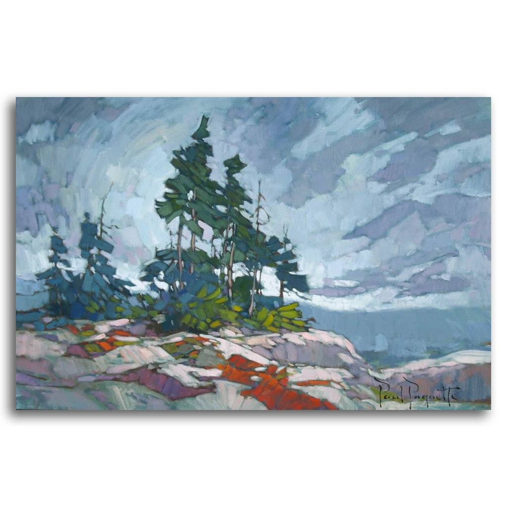 Moody Sky Oil on Canvas by Paul Paquette