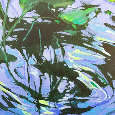 Moonlight Dance Mixed Media on canvas by Blu Smith