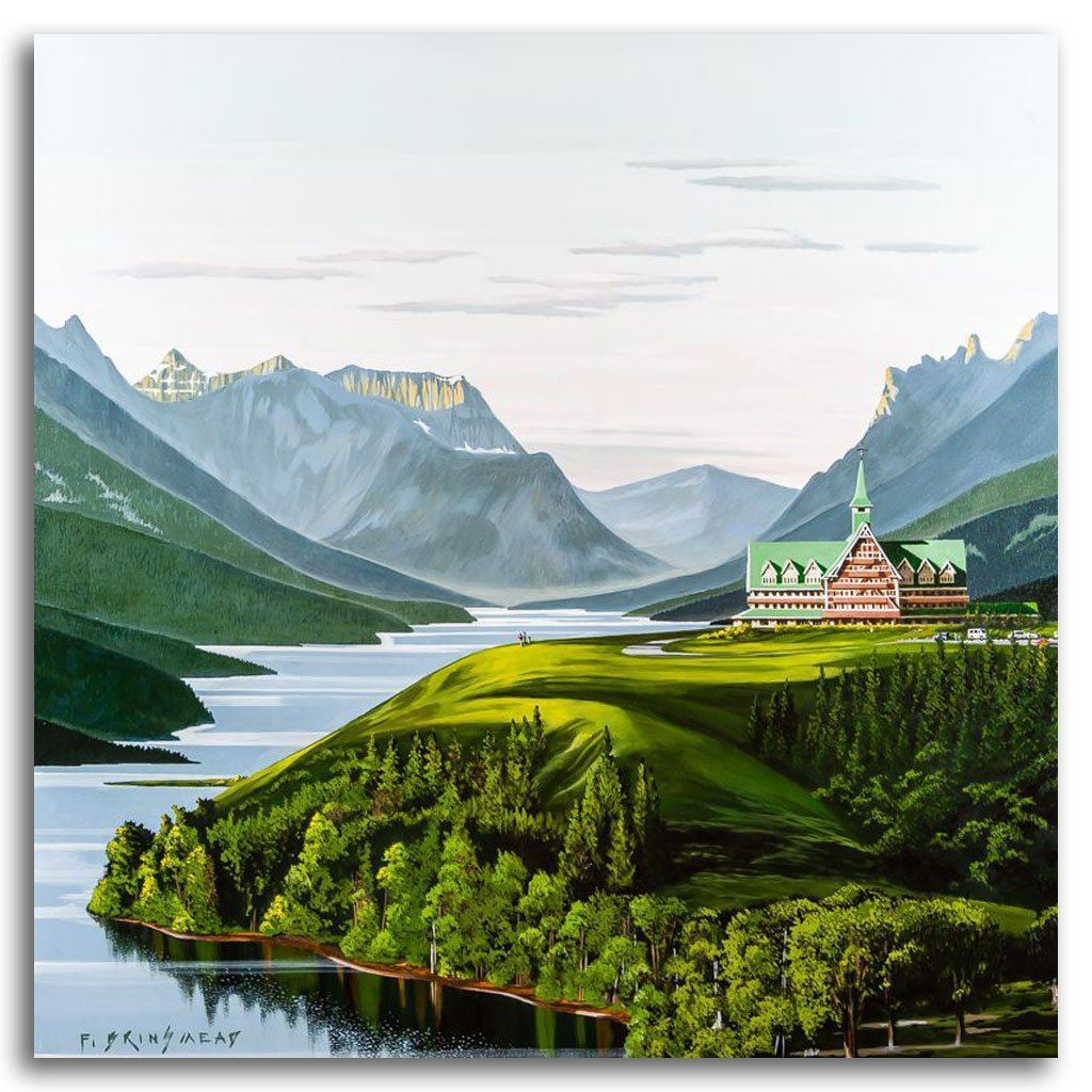 Morning at Waterton Lakes Acrylic on Canvas by Fraser Brinsmead