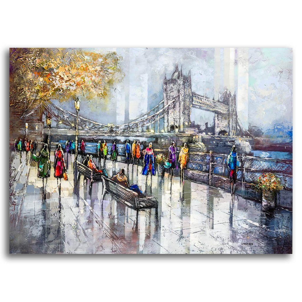 Nice View of Tower Bridge Acrylic on Canvas by Irene Gendelman