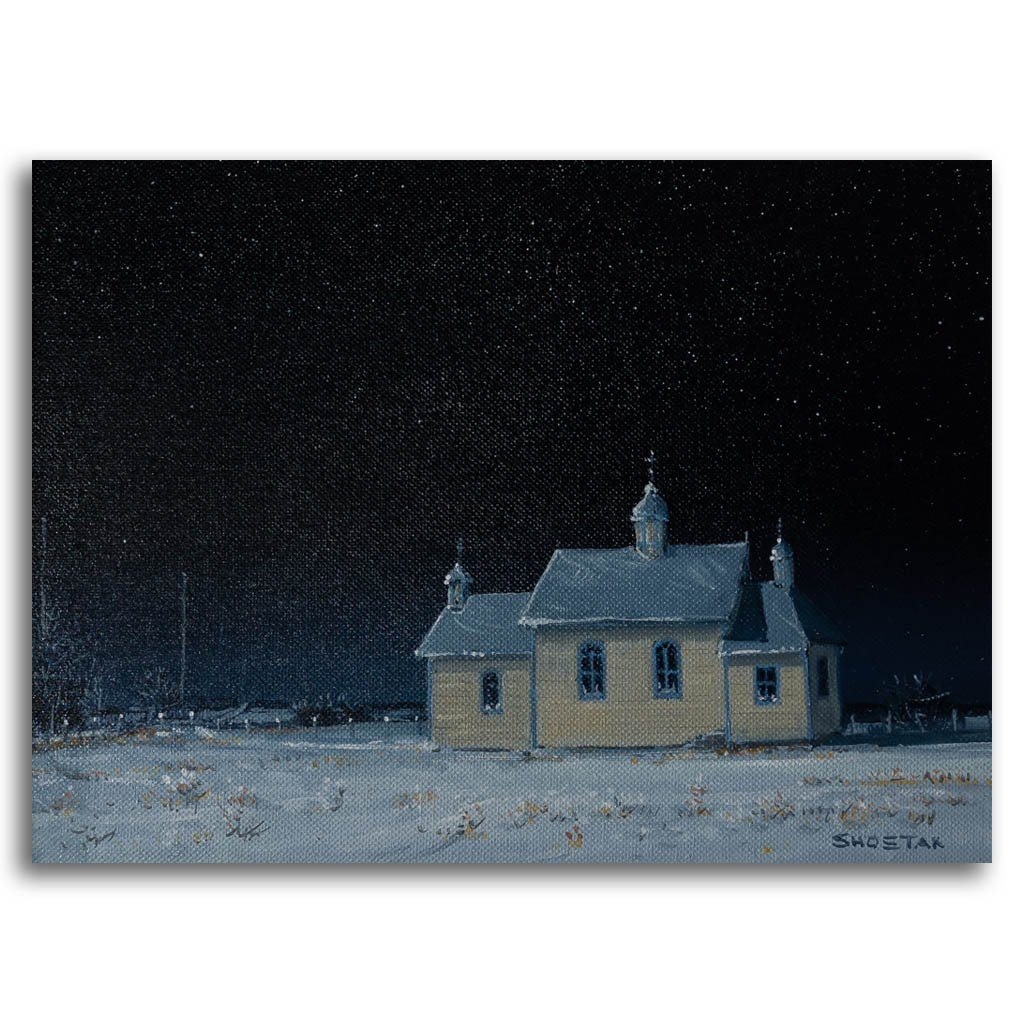 No service this Sunday Oil on Canvas Peter Shostak