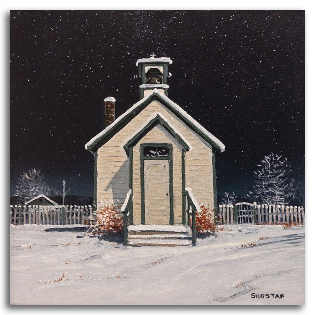 Not a very big church Oil on Canvas by Peter Shostak