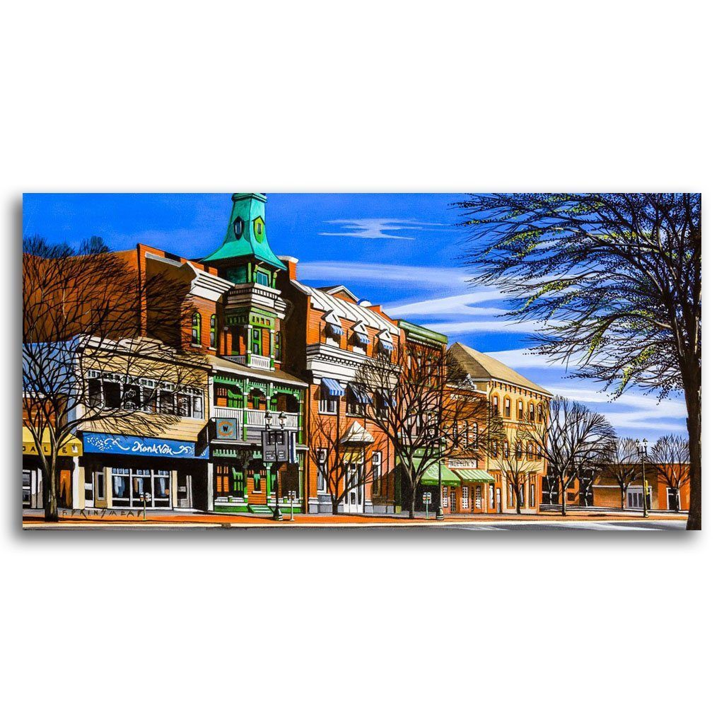 Old Dominion Hotel Acrylic on Canvas by Fraser Brinsmead