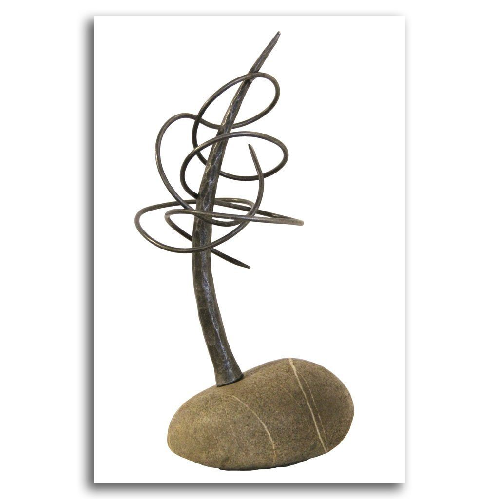 Orbit Tree Forged Iron and Stone by Paul Reimer