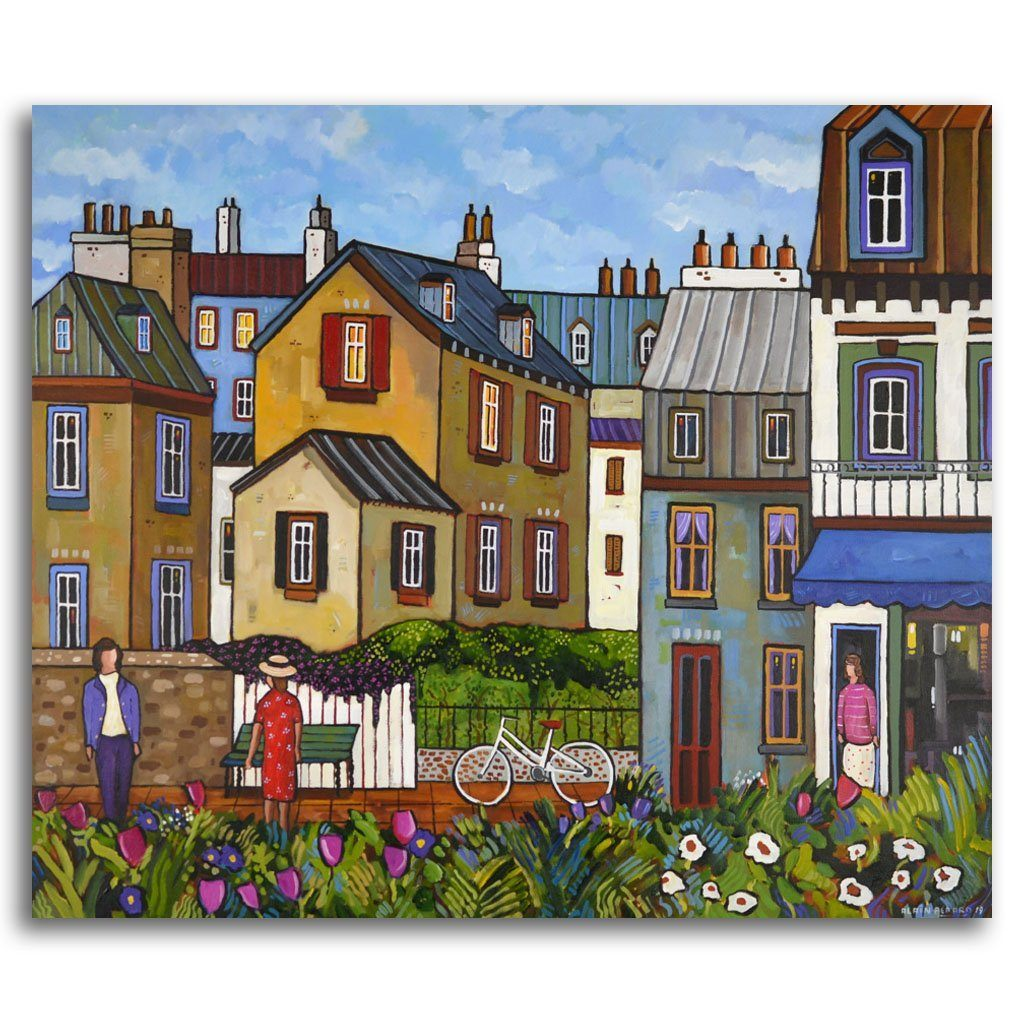 Our Way in Normandy Acrylic on Canvas by Alain Bédard