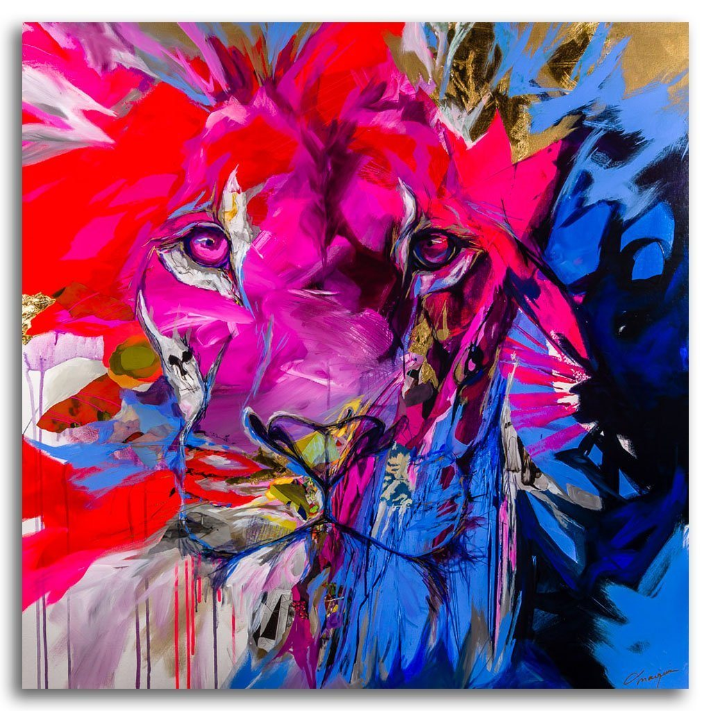 Out of the wild Mixed Media on canvas by Annabelle Marquis
