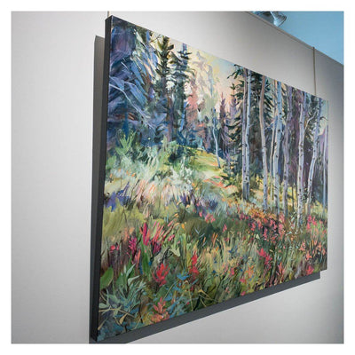 Paintbrush Meadow Acrylic on Canvas by Brent Laycock RCA