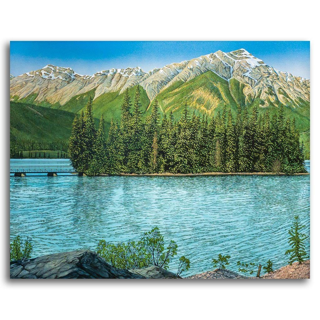 Patricia Lake Acrylic on Canvas by W. H. Webb