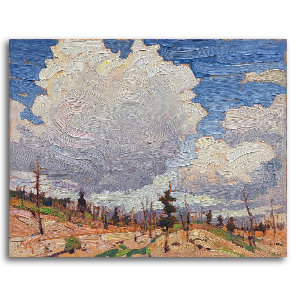 Peachland Hillside Oil on Board by Ken Faulks