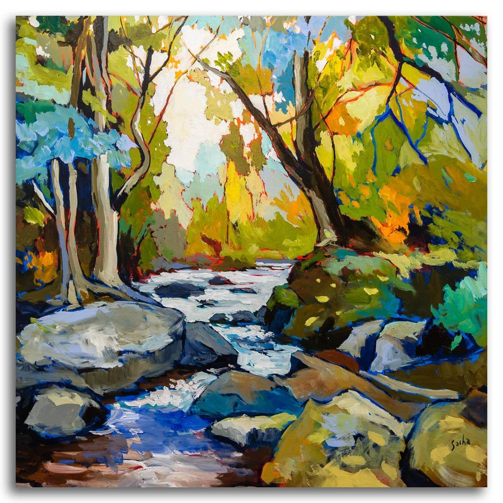 Rivière Rouge Acrylic on Canvas Sacha Barrette