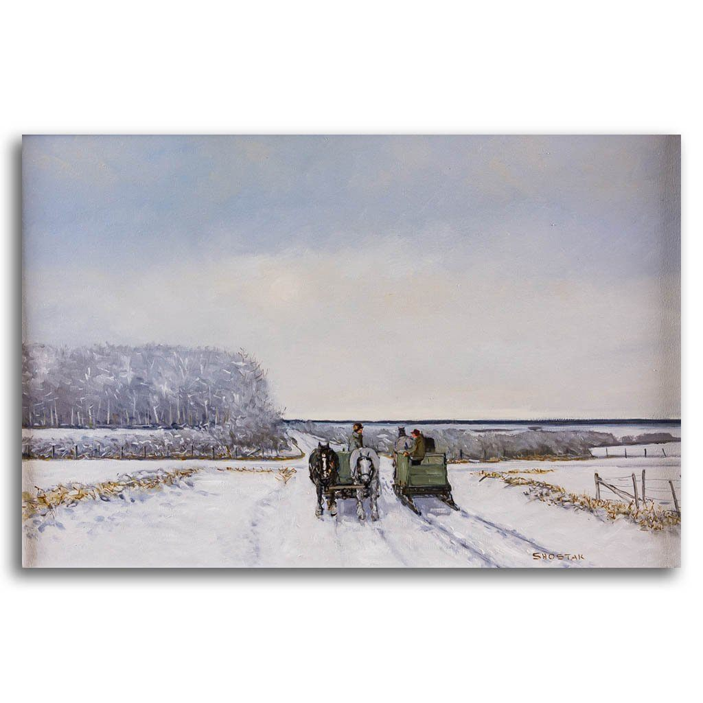 Roadside visit Oil on Canvas Peter Shostak