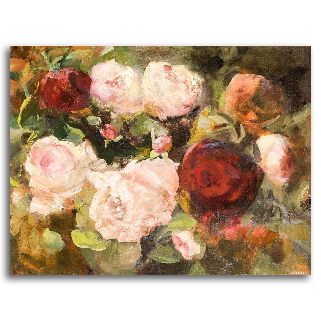 Rose Tangle Garden Oil on Canvas by Gabryel Harrison