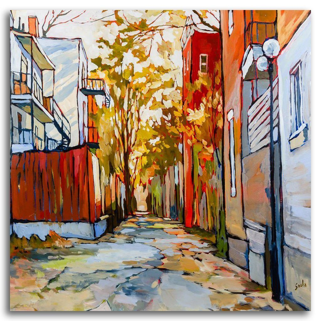 Ruelle 5-9-8 Acrylic on Canvas by Sacha Barrette