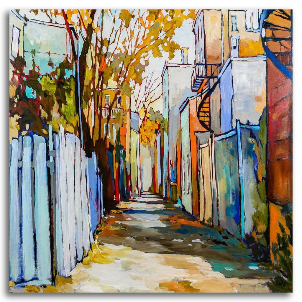 Ruelle 6-1-0 Acrylic on Canvas by Sacha Barrette