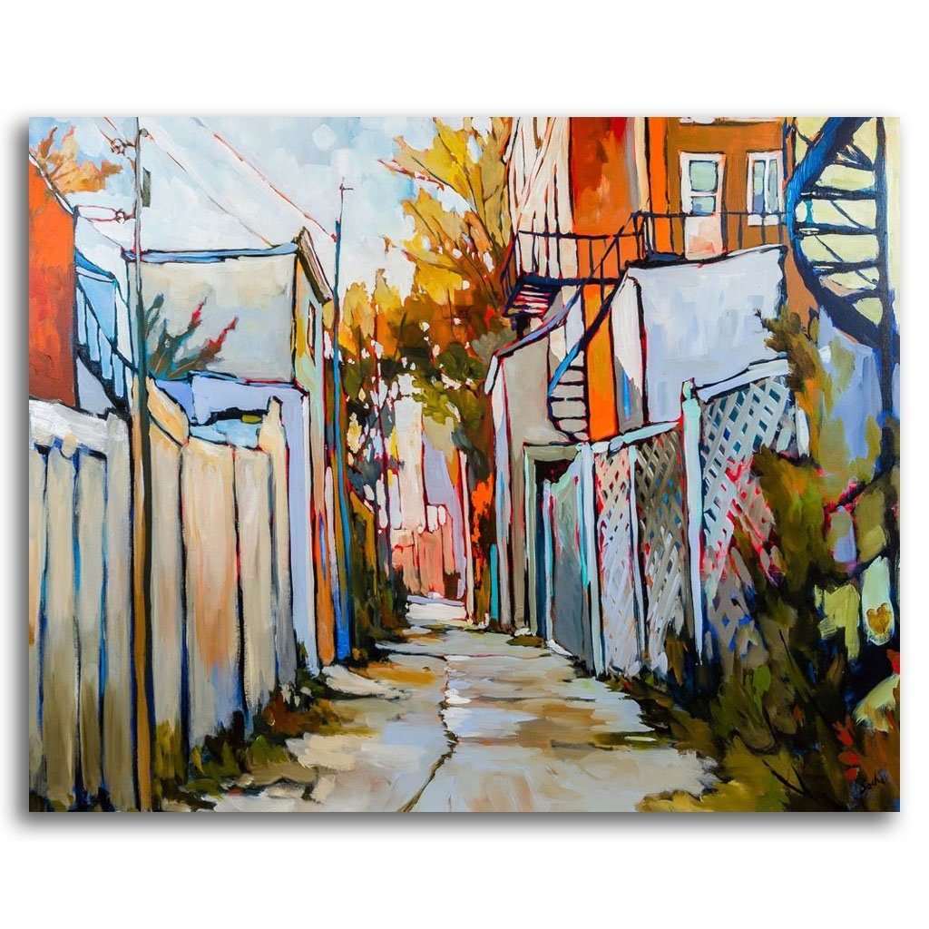 Ruelle 6-1-3 Acrylic on Canvas by Sacha Barrette