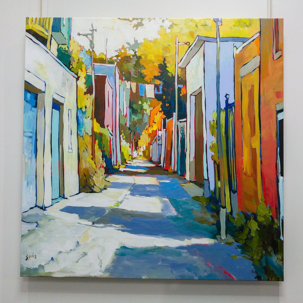 Ruelle Acrylic on Canvas Sacha Barrette