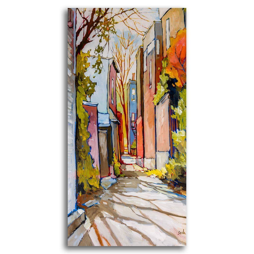 Ruelle Spring Shadows Acrylic on Canvas by Sacha Barrette