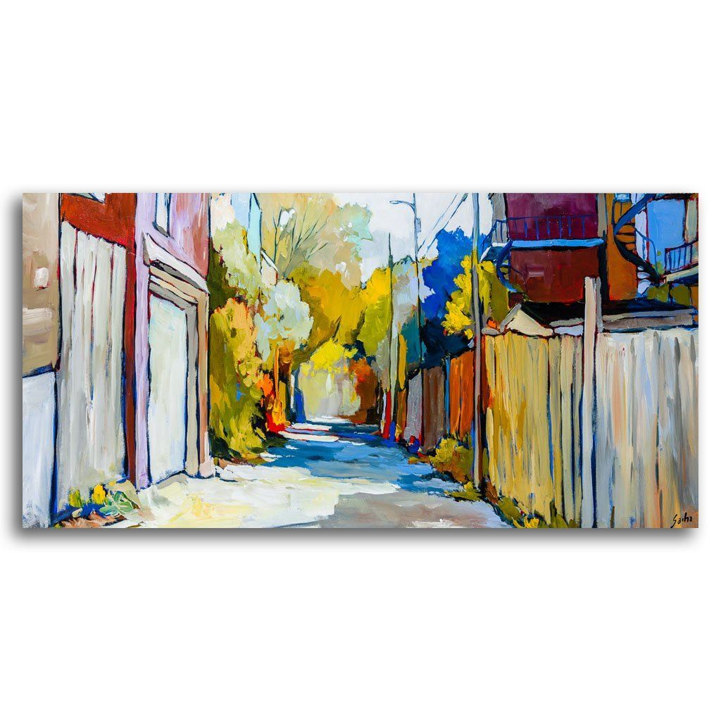 Ruelle Sunny Morning Acrylic on Canvas by Sacha Barrette