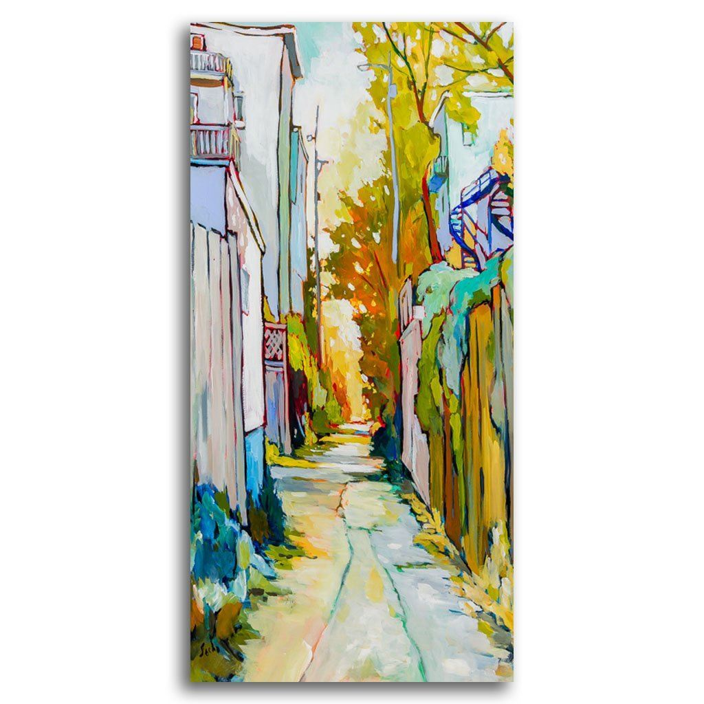 Ruelle Tranquille Acrylic on Canvas by Sacha Barrette