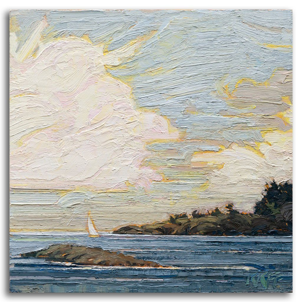 Sailing Out Oil on Board by Ken Faulks