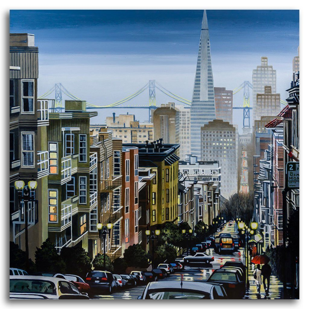 San Francisco Stroll Acrylic on Canvas by Fraser Brinsmead