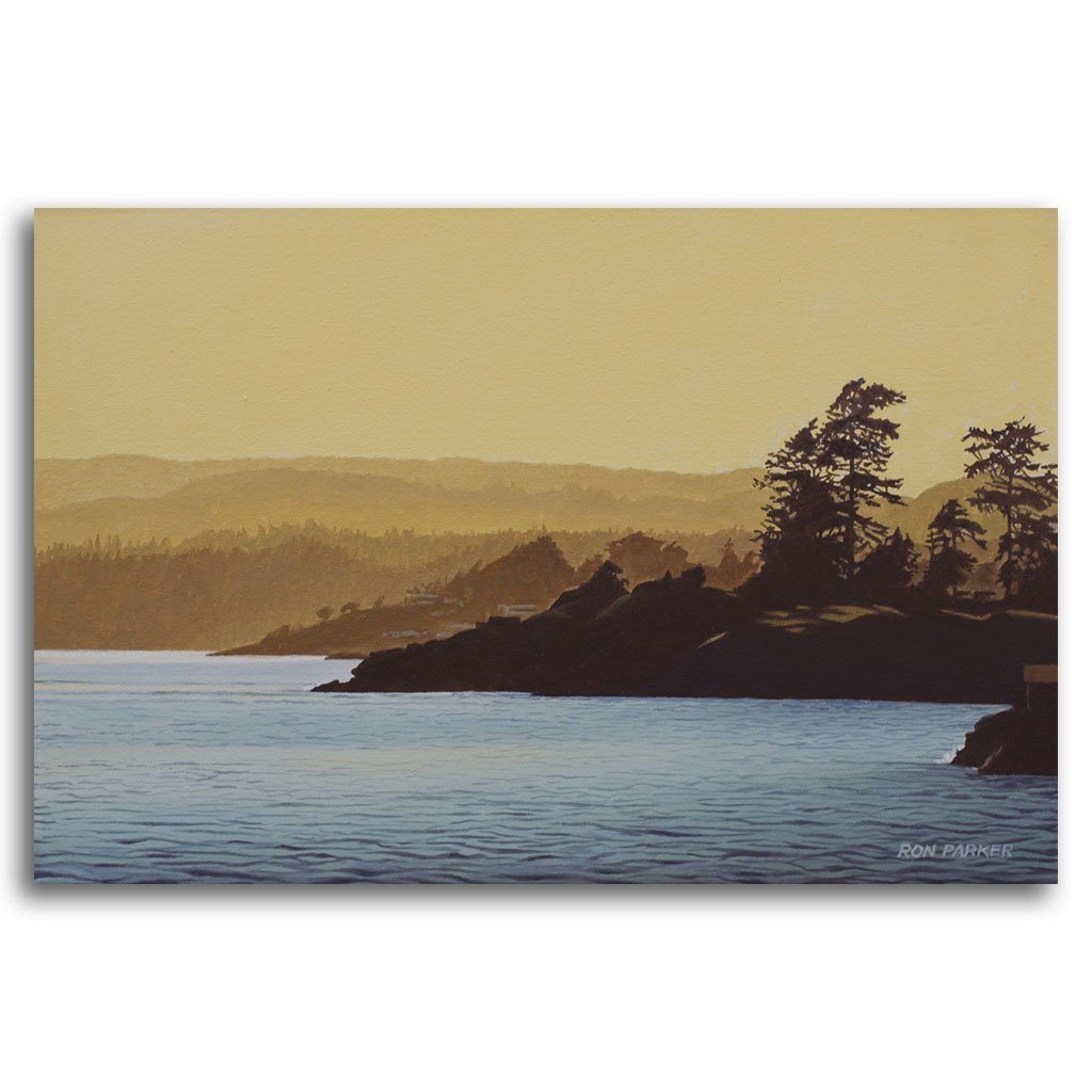 Saxe Point Oil on Canvas by Ron Parker