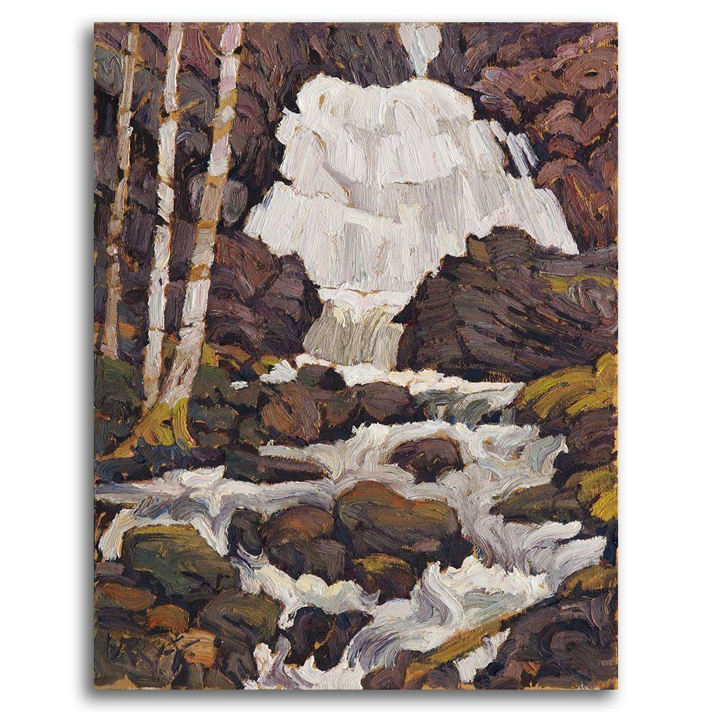 Shady Falls Oil on Board by Ken Faulks