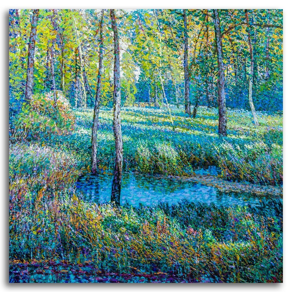 Silent Pond #1 Acrylic on Canvas by Shi Le
