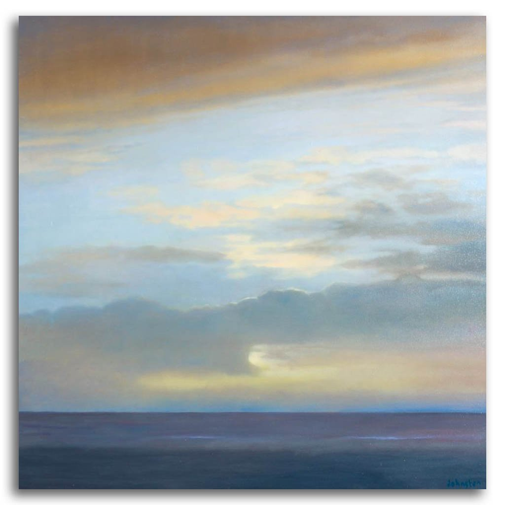 Sky, Beach and Sea #5 Oil on Canvas by Patricia Johnston