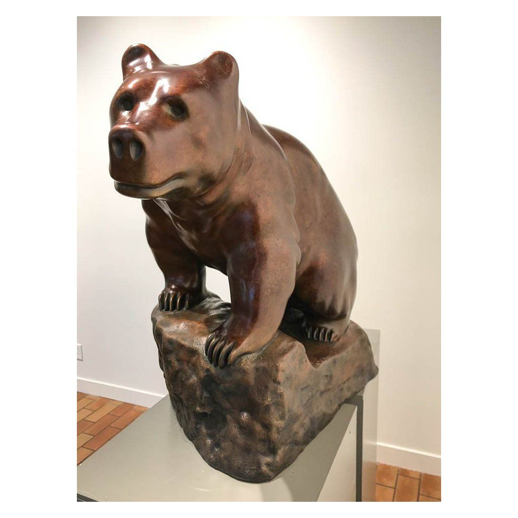 Spirit of the Forest, Cinnamon Bear 1/8 Cast bronze by Cathryn Jenkins