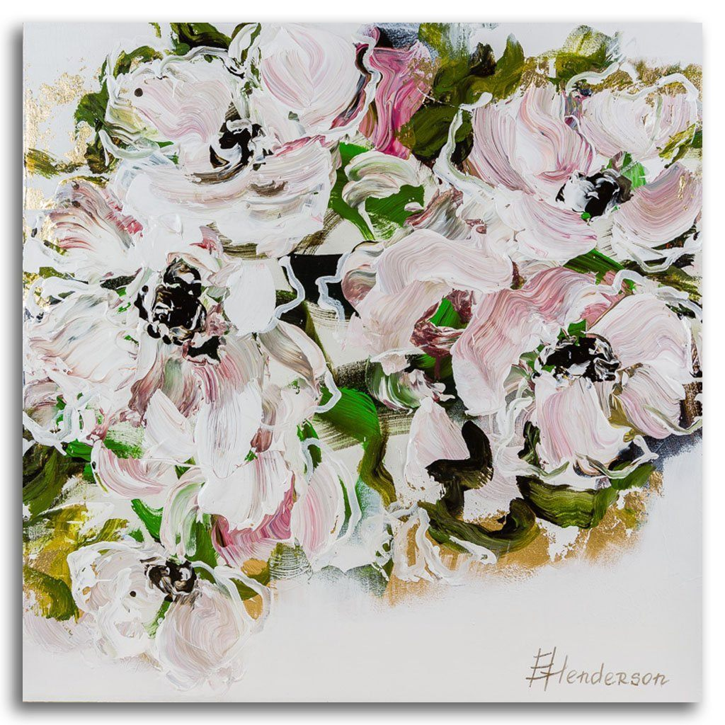 Spring Blooms Series #12 Acrylic on Canvas by Elena Henderson