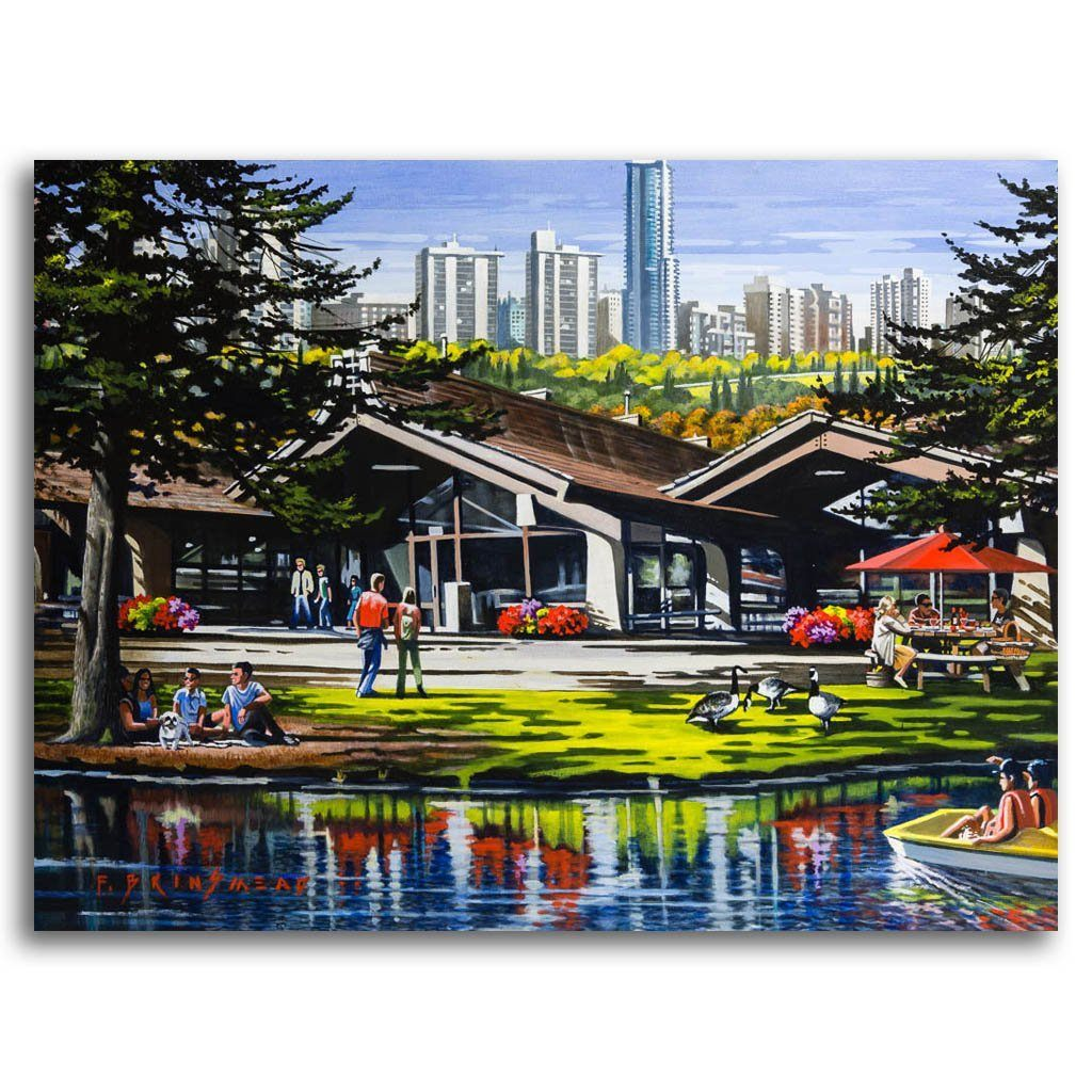 Summer Day at Hawrelak Park Acrylic on Canvas by Fraser Brinsmead